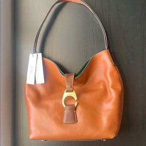 NWT D&B Natural Leather Derby Florentine Hobo Bag